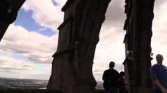 Wallace Tower - Stirling, Scotland Stock Footage