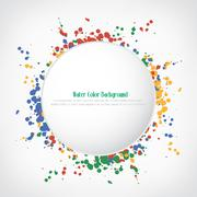 Water color button background, vector illustration Stock Illustration