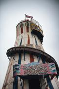 Helter skelter amusement ride on brighton pier Kuvituskuvat