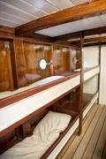 Crew quarters aboard cutty sark museum ship Stock Photos
