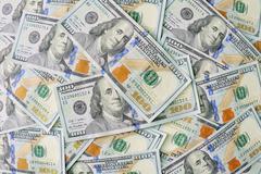 New 100 dollar bill background Stock Photos