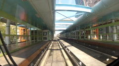 Taipei elevated Rail Metro System-Dan Stock Footage