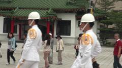 Change of guards Taipei National Palace Museum, Taiwan-Dan Stock Footage