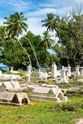 Historical seychelles cemetery in la digue Kuvituskuvat