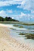 Lagoon at anse union in la digue, seychelles Stock Photos