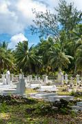 Historical cemetery in la digue in seychelles Kuvituskuvat