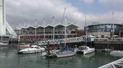 Gunwharf quays, portsmouth, england Stock Footage