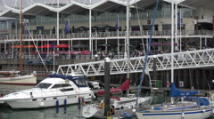 Zoom out, gunwharf quays, portsmouth, england Stock Footage