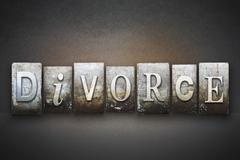 Divorce letterpress Piirros