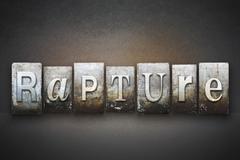 Rapture letterpress Stock Illustration