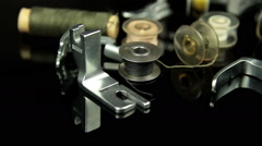 sewing machine utensils - stock footage