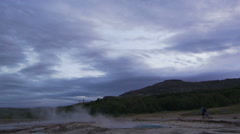 Geysir erupting Stock Footage