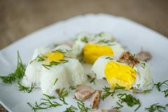 eggs steamed - stock photo