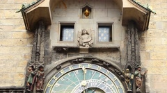 Prague astronomical clock performance, Old Town. Part 1 of 2 Stock Footage