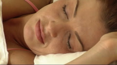 Couple asleep in Bed Stock Footage