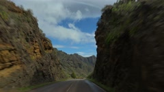 POV. Driving on mountain road, Tenerife, Canary islands. Stock Footage