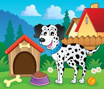 Image with dog theme - illustration. Stock Illustration