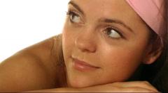 Woman having massage/beauty treatment Stock Footage