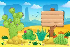 desert theme image - illustration. - stock illustration