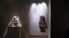 Shenzhen Museum of India World Sculpture Exhibition Stock Footage