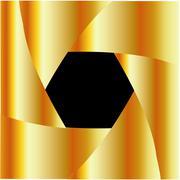 Golden shutter background Stock Illustration