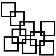 Abstract composition with squares Stock Illustration