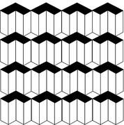 Optical illusion background with 3d shapes - stock illustration