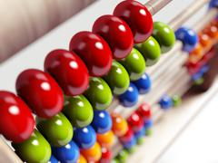 colorful abacus. - stock illustration