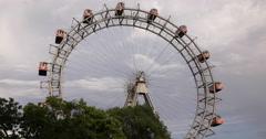 UltraHD 4K Most Popular Tourist Attraction Vienna Austria Ferris Wheel Prater Stock Footage