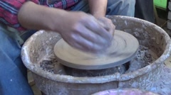 Professional making pottery Stock Footage