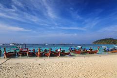 beautiful beach of Lipe island in Thailand - stock photo