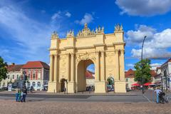 potsdam brandenburg gate - stock photo