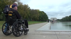 Veteran - Lincoln Memorial Stock Footage