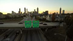 Atlanta Aerial Freedom Parkway - stock footage