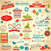 Stock Illustration of Calligraphic and typographic design for Christmas decoration