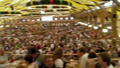Inside Beer Tent Oktoberfest Stock Footage