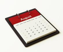 august calendar planning. - stock illustration