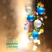 Christmas bauble on abstract background - stock illustration