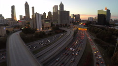 Atlanta Aerial Cityscape Freeway - stock footage