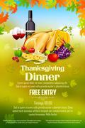 Thanksgiving celebration banner with maple leaf Stock Illustration