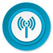Wifi icon, wireless network sign. Stock Illustration