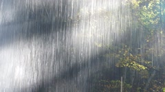 behind the waterfall - stock footage