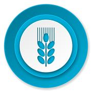 Grain icon, agriculture sign. Stock Illustration