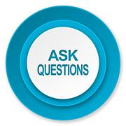 ask questions icon. - stock illustration