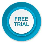 Stock Illustration of free trial icon.