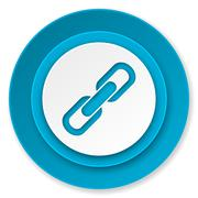 Link icon, chain sign. Stock Illustration