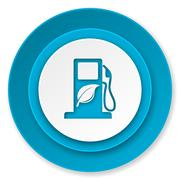Biofuel icon, bio fuel sign. Stock Illustration