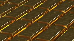gold bullion - stock illustration