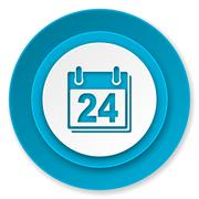 Stock Illustration of calendar icon, organizer sign, agenda symbol.