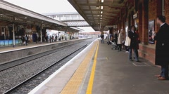 Fast Train 1 England with audio faceblur at 25fps Stock Footage